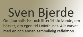 Sven Bjerdes blogg